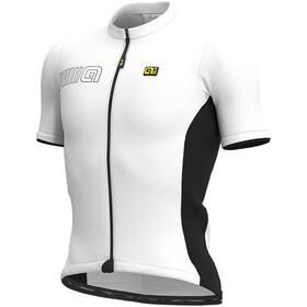 Alé Cycling Solid Color Block Kurzarm Trikot Herren weiß/schwarz